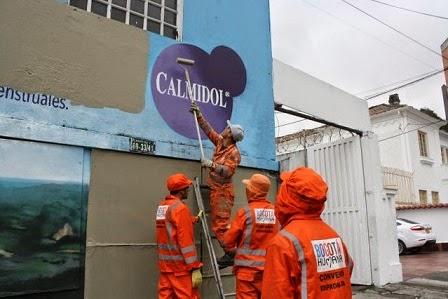 Bogota sufre de contaminacion visual