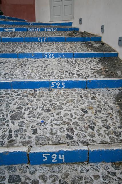 Scaloni del Porto di Santorini