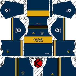 Boca Juniors 2020 Kit - Dream League Soccer 2019 Kits