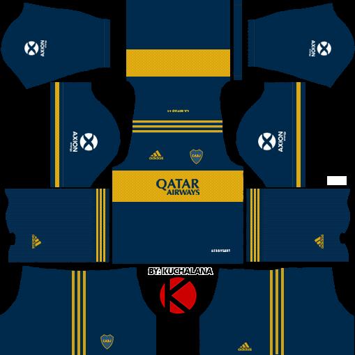 Boca Juniors 2020 Kit - Dream League Soccer 2019 Kits
