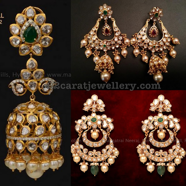 Pachi Work Chandbali Earrings