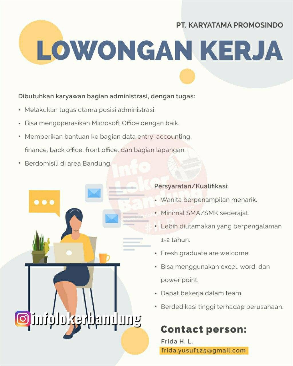 Lowongan Kerja PT. Karyatama Promosindao Bandung Juni 2020