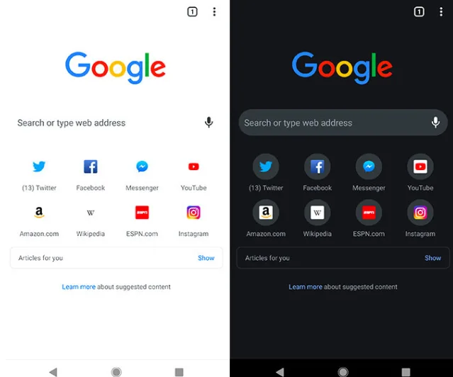 Cara Mengaktifkan Dark Mode  Baru Chrome di Android1