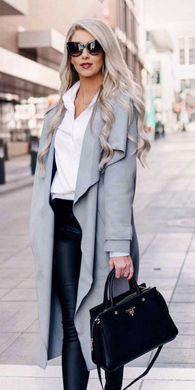 23 Stylish Fall Fashion Ideas for Women Over 30. We've taken the liberty of compiling a list of fall outfit ideas for women over 30. Fall Style via higiggle.com | grey coat | #fashion #falloutfits #style #coat