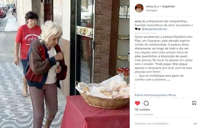 exemplo amor ao proximo padaria guarapari