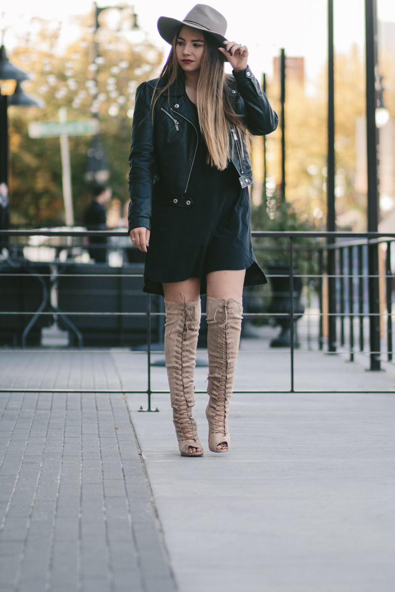 lace up boots, chase and chloe, high heel boots
