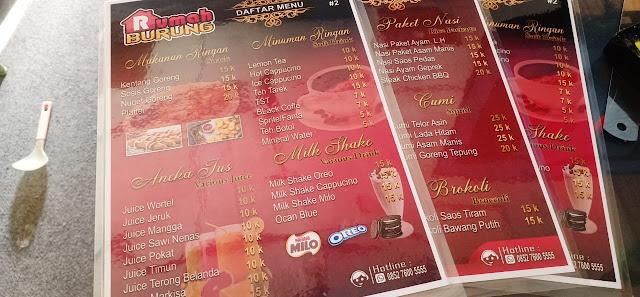 Daftar Menu Makanan Caffe Merah Maroon Motif Kayu | Percetakan Murah Tanjungbalai
