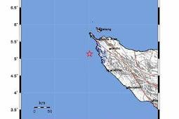Gempa 4,1 SR Aceh Dipicu Sesar Dasar Laut