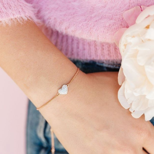 Get this exclusive Heart Bolo Bracelet for $35 in January Only! Shop StoriedCharms.com