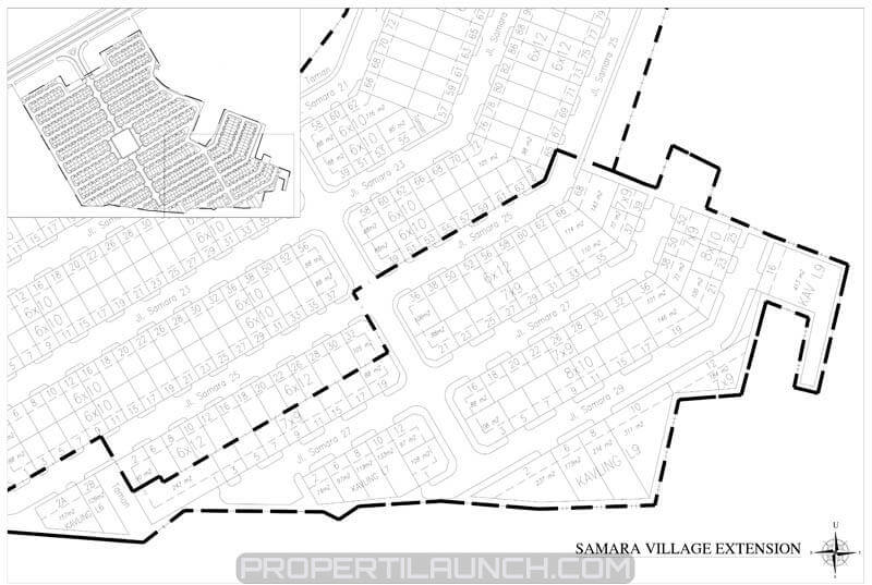 Site plan cluster Samara Village