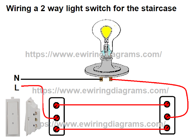wiring a 2 way light switch for the staircase
