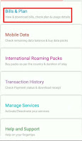 change airtel postpaid plan in airtel thanks app
