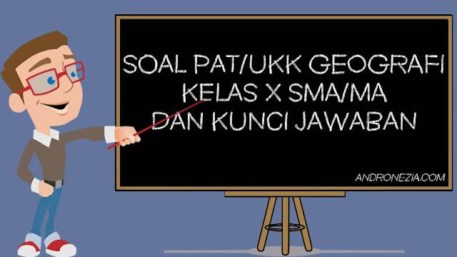 Soal PAT/UKK Geografi Kelas 10 Tahun 2021