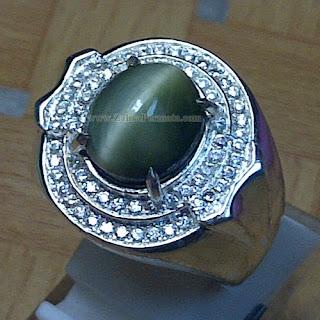 Cincin Batu Permata Cat Eye Quartz - ZP 851