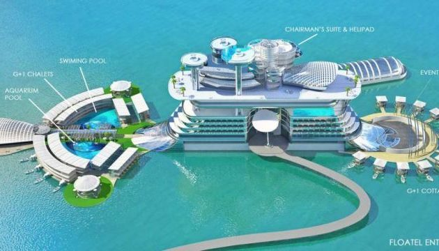 The first floating hotel in Romania
