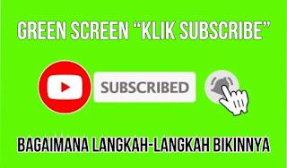animasi green screen tombol subscribe