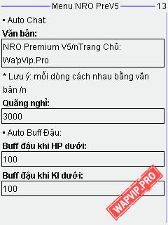 Tai NRO 120 Premium V5 Fix Loi Auto Buff Dau Auto Danh Theo Thoi Gian