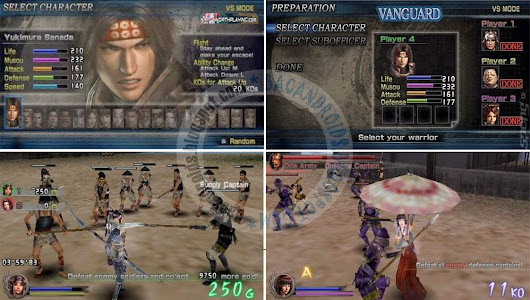 Game Samurai Warriors State of War CSO Compress For PPSSPP Emulator | Baca Android | Bacandroids.net