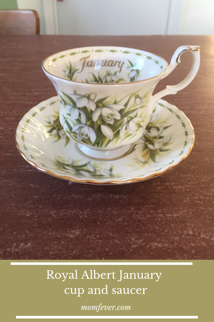 Royal albert cup and saucer january