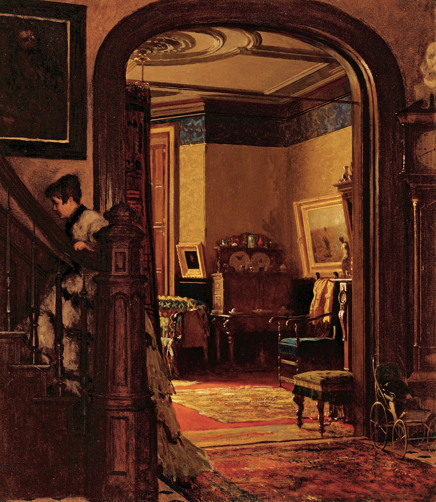 Interior Home Painting: 19th Century American Paintings: Eastman Johnson, Ctd