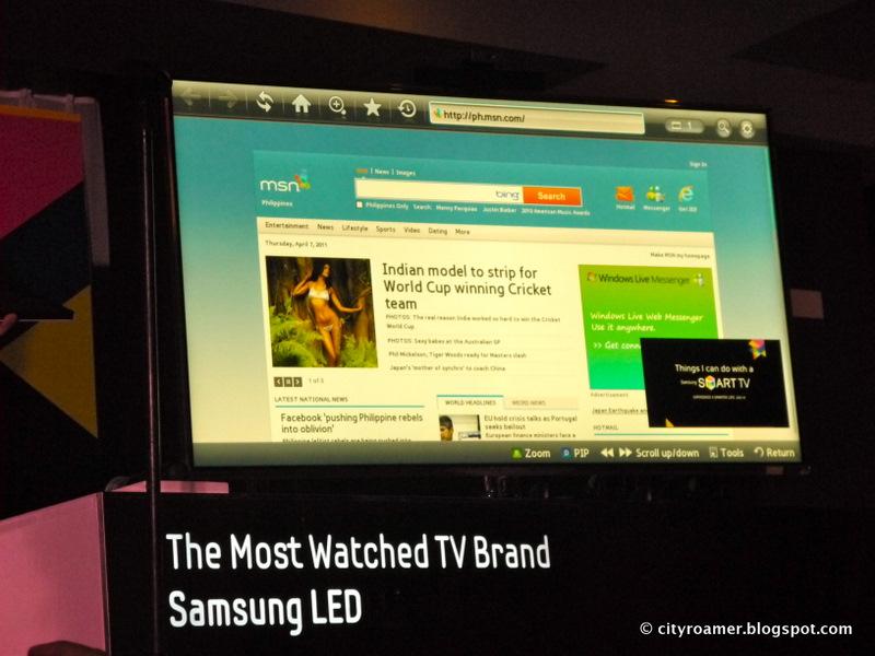 Surf through the Samsung SMART TV