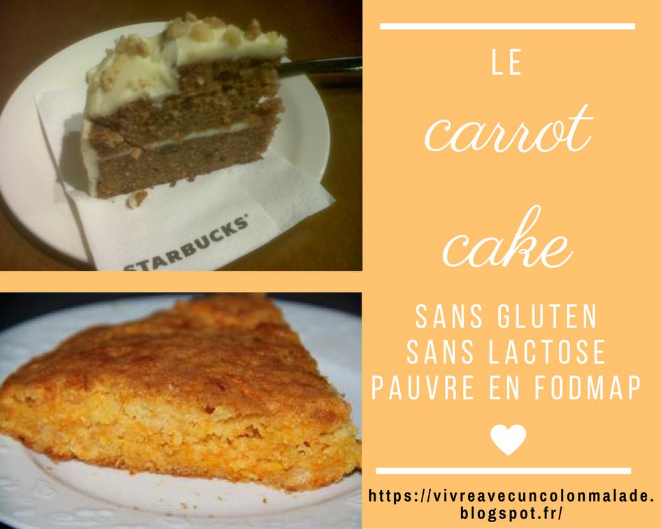 Le carrot cake {sans gluten, sans lactose, pauvre en FODMAP}