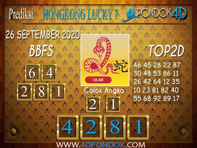 Prediksi Togel HONGKONG LUCKY 7 PONDOK4D 26 SEPTEMBER 2020