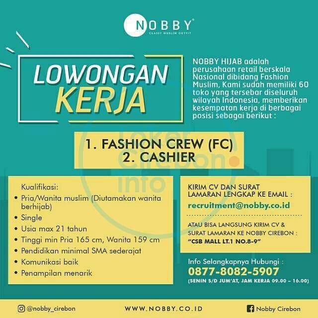 Lowongan Kerja Nobby Hijab Cirebon