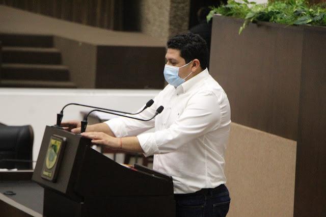 diputado del PAN, Víctor Sánchez Roca. Foto Antonio Sánchez