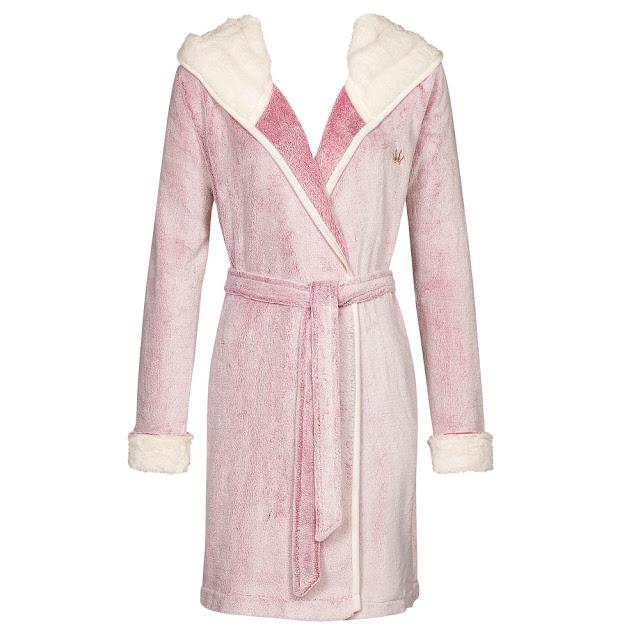 Robe Bicolor Kuschel Morgenmantel rosé von Triumph