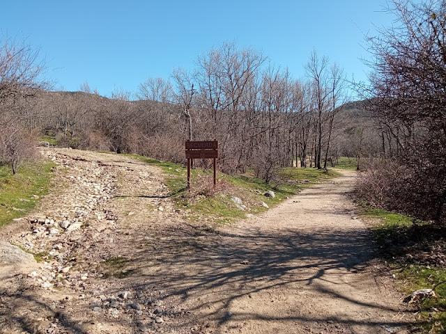 Tomamos el camino de la derecha para acercarnos al arroyo