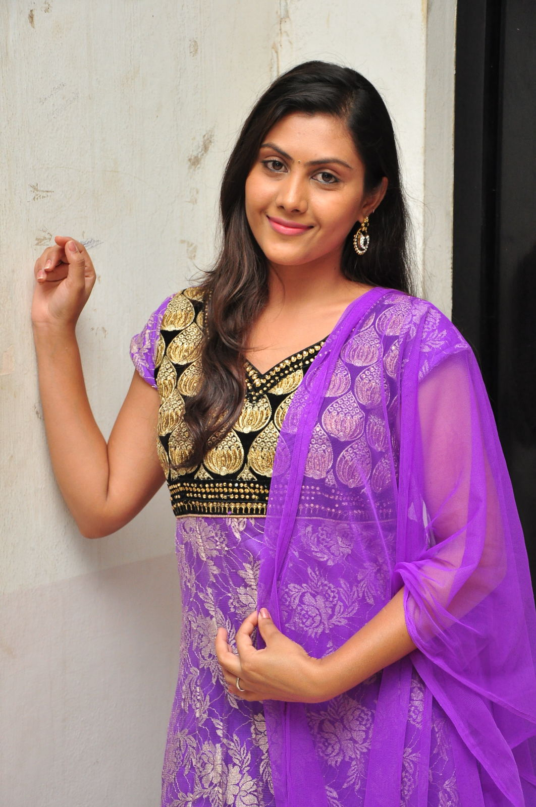 Tv Actress Priyanka Naidu Photos In Violet Dress
