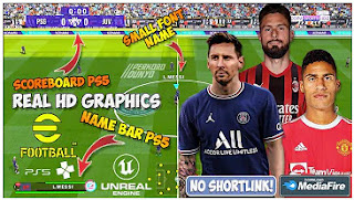 Download eFootball PES 2022 PPSSPP Chelito V8 New Update Full Transfer & New Real Face And Callname