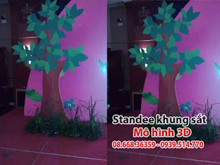Sản xuất Standee Khung Sắt HCM