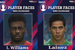 Inaki Williams & Diego Lainez Face - PES 2017