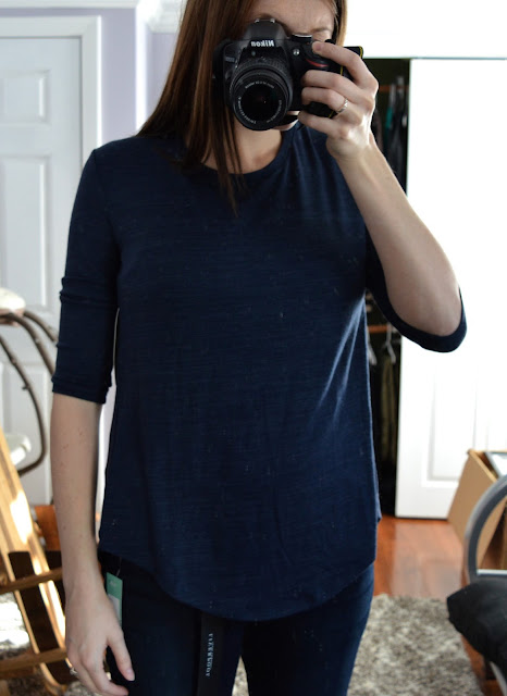 RD Style Keira 3/4 Sleeve Split Back Knit Top - Stitch Fix Review