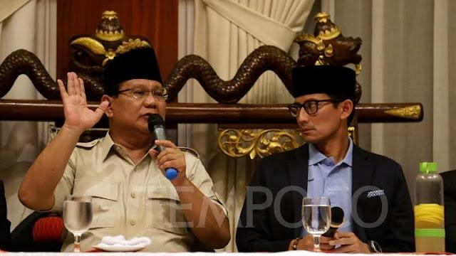 Muka Prabowo-Sandiaga Tegang, Koalisi Tak Solid?