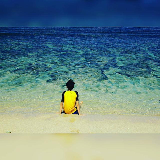 foto biru air laut pantai sepanjang jogja