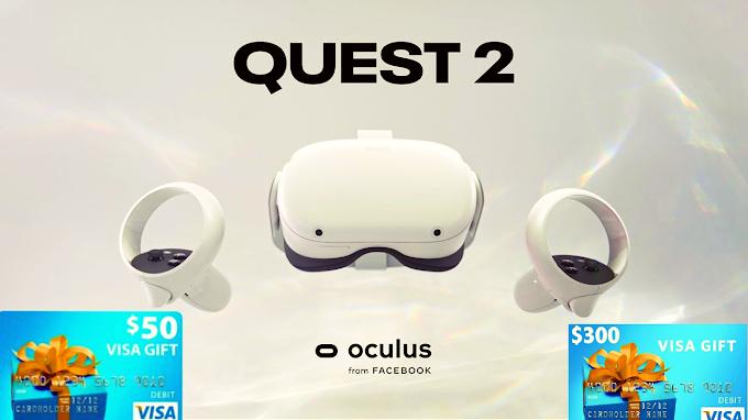 Sorteio de um Oculus Quest 2 VR + $ 200 em Gift Cards