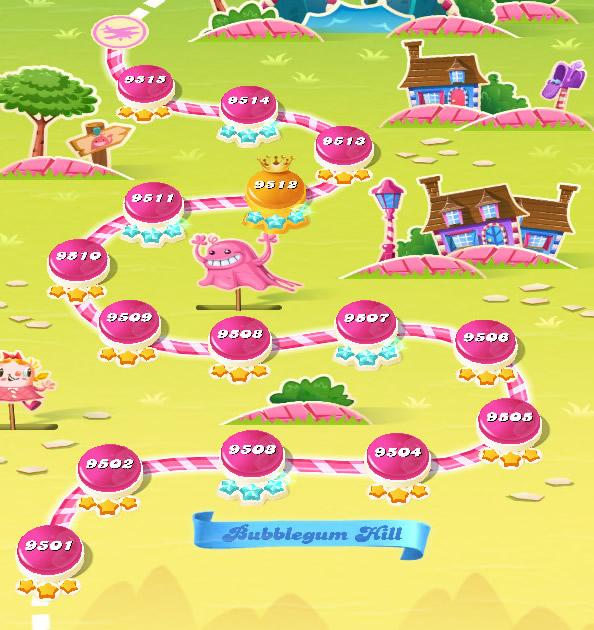 Candy Crush Saga level 9501-9515