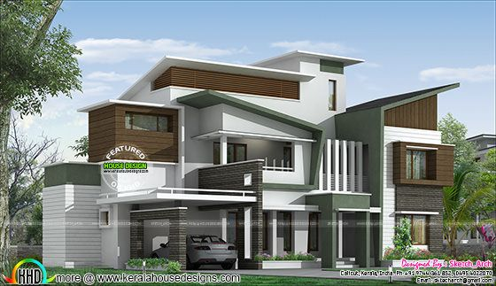 contemporary style box type home by sketch arch kerala