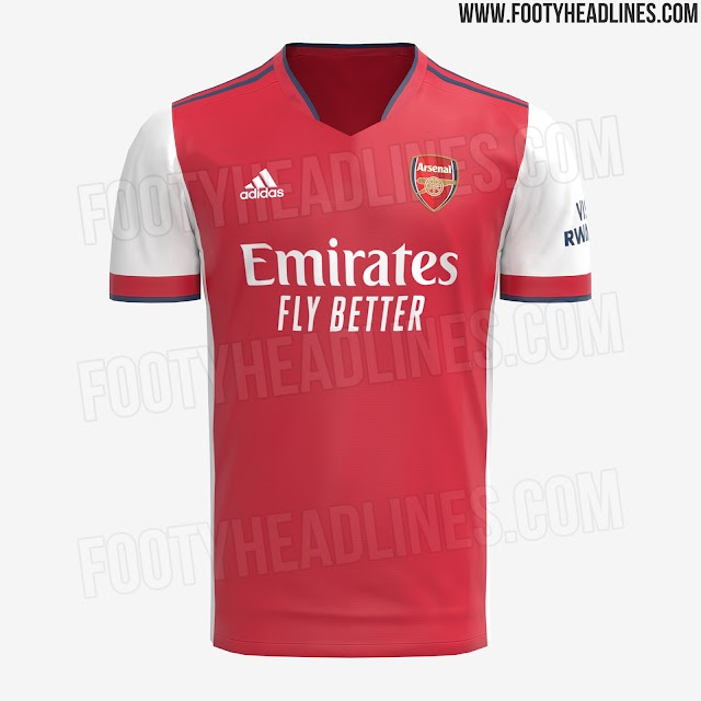 Arsenal 2021-22 Adidas Home Kits [LEAKED]