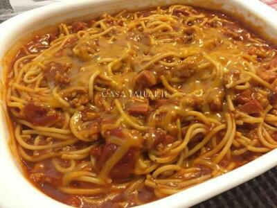 Pour Sauce Over The Pasta Top With Grated Cheese And Serve