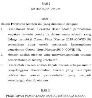 19 Pasal pada Permenkes Nomor 9 Tahun 2020 Tentang Pedoman PPSB dalam Rangka Percepatan Penangan COVID-19