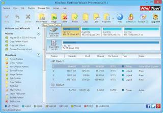 برنامج تقسيم الهارد ديسك ويندوز 10 بدون فورمات Partition Wizard