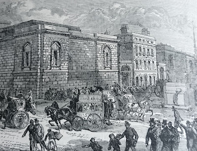 The front of Newgate Prison from Old and New London by E Walford (1878)