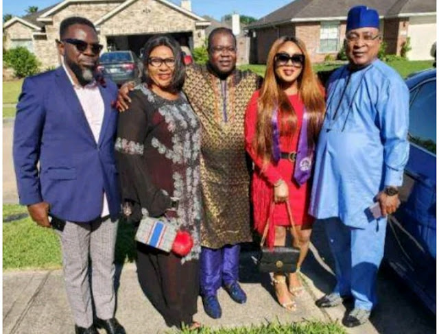 Icon Fuji Singer Kollingnton Ayinla In Attendance At Daughter's Graduation In US