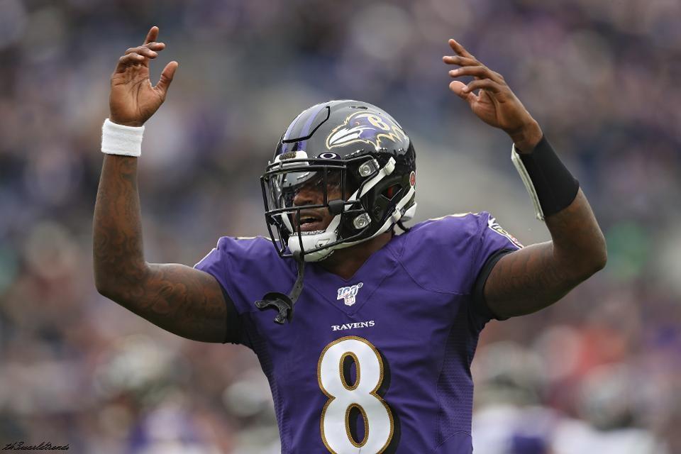 Lamar Jackson throws five TD passes, Ravens rout Rams 45-6