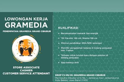 Info Lowongan Kerja Gramedia Cibubur Bekasi