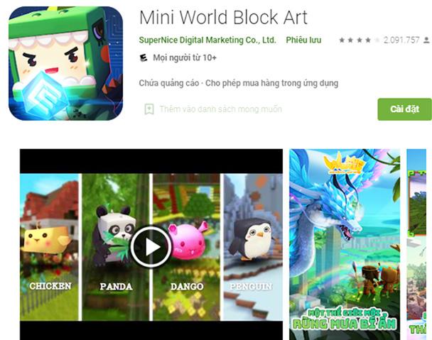 Tải Mini World Apk mới nhất về máy điện thoại Android miễn phí a